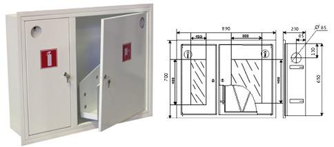 Шкаф пожарный ШПК-315В3Б